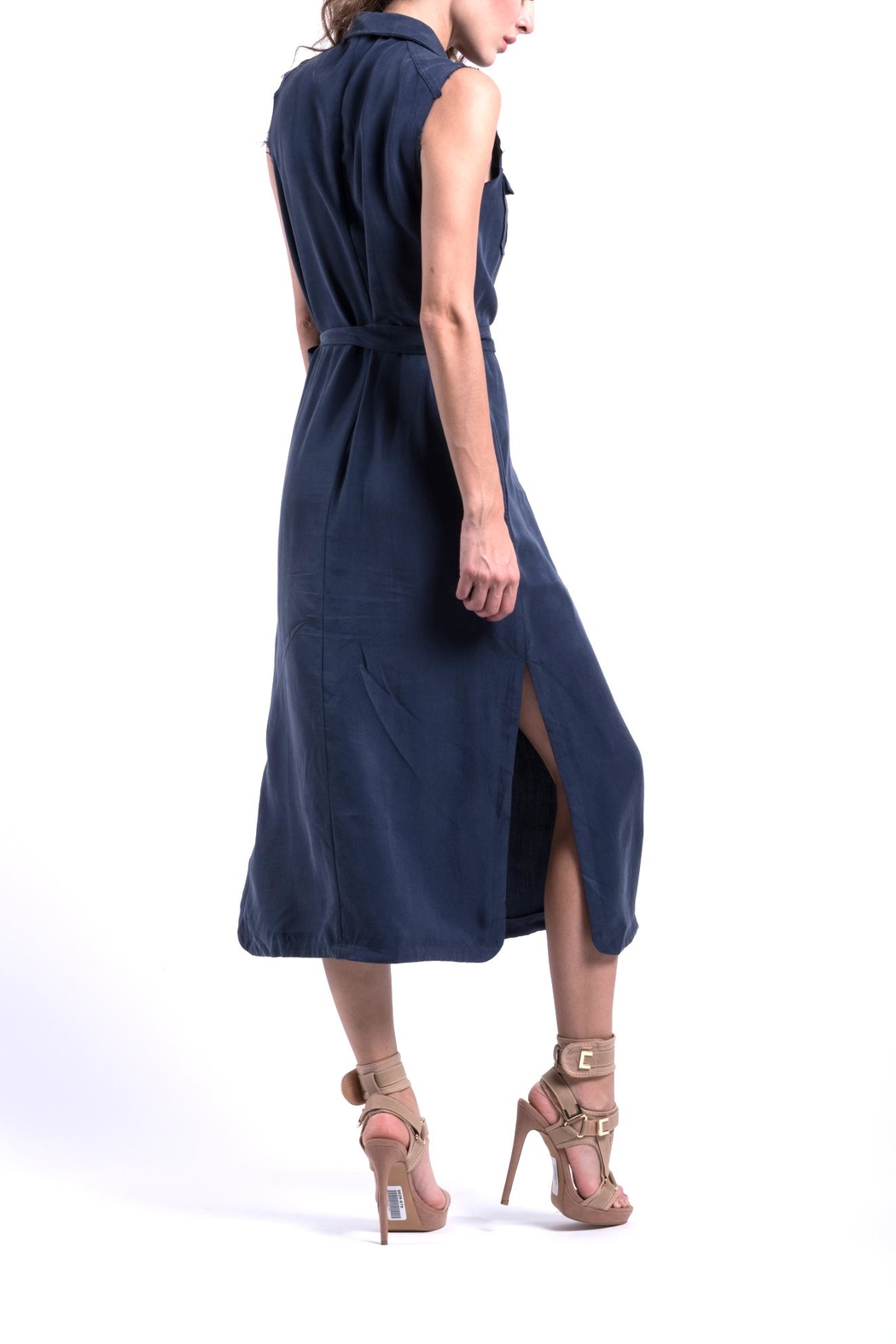 ANA PEREZ Blue Eco Dress - Side Cropped Image