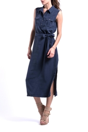 ANA PEREZ Blue Eco Dress - Front cropped