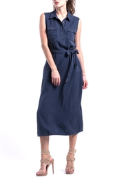 ANA PEREZ Blue Eco Dress - Back cropped
