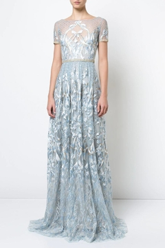 Shoptiques Product: Blue Embroidered Gown