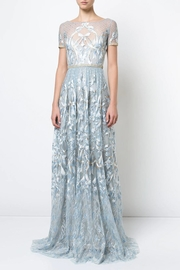 Marchesa Blue Embroidered Gown - Product Mini Image