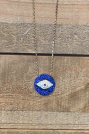 Allie & Chica Blue Evil Eye Necklace - Product Mini Image
