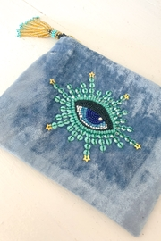 Olivia Darr Blue Eye Velvet Purse - Product Mini Image