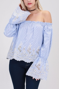 HYFVE Blue Eyelet Crop - Product List Image