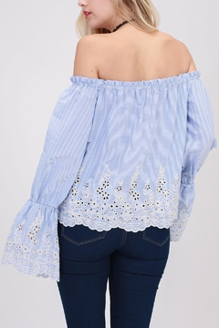 HYFVE Blue Eyelet Crop - Alternate List Image