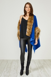 Urban Touch Blue Fauxfur Trimcoat - Product Mini Image