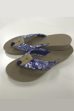 Eliza B Blue Floral - Almond Sole Sandal - Product List Image