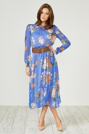 Urban Touch Blue Floral Dress - Product Mini Image