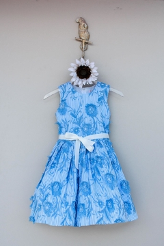 Halabaloo Blue Floral  Dress - Product List Image