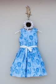 Halabaloo Blue Floral  Dress - Front cropped