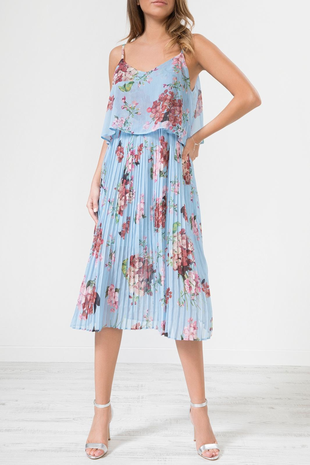 Urban Touch Blue Floral Dress - Main Image