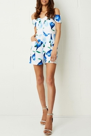 frontrow Blue Floral Playsuit - Product Mini Image