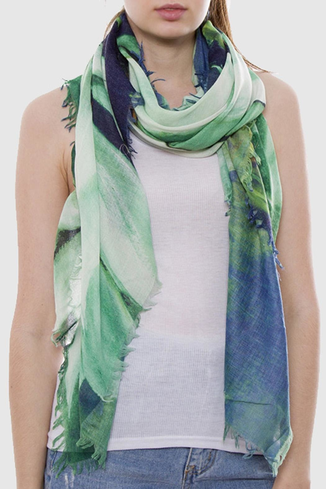 Wild Lilies Jewelry  Blue Floral Scarf - Main Image