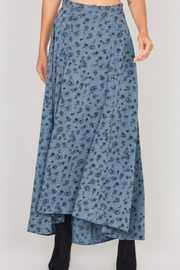 AMUSE SOCIETY Blue Floral Skirt - Product Mini Image
