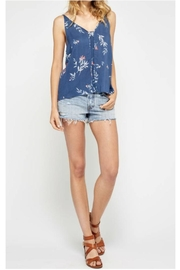 Gentle Fawn Blue Floral Top - Product Mini Image