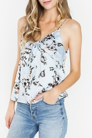 Sugar Lips Blue Floral Top - Side cropped