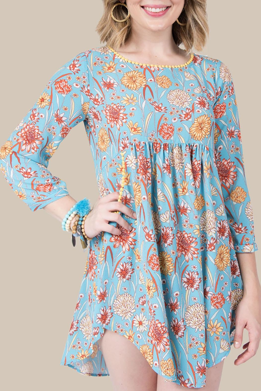 Ivy Jane / Uncle Frank  Blue Floral Tunic - Main Image