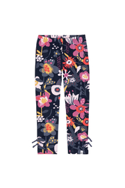 Deux Par Deux Blue Flower Leggings - Product Mini Image