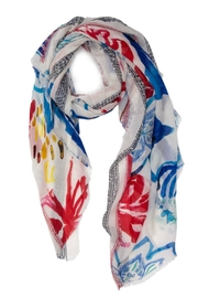 DESIGUAL Blue Flower Scarf - Product Mini Image