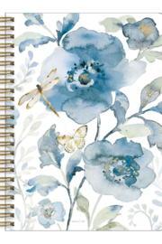 Legacy Blue Flowers & Dragonfly Notebook - Product Mini Image