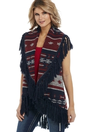 Cripple Creek Blue Fringe Vest - Product Mini Image