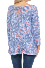 Cubism Blue Geo Top - Front full body
