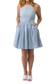 Smak Parlour Blue Gingham Dress - Product Mini Image