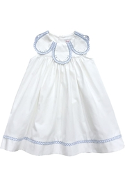 Sophie & Lucas Blue-Gingham Petal-Collar Dress - Product Mini Image