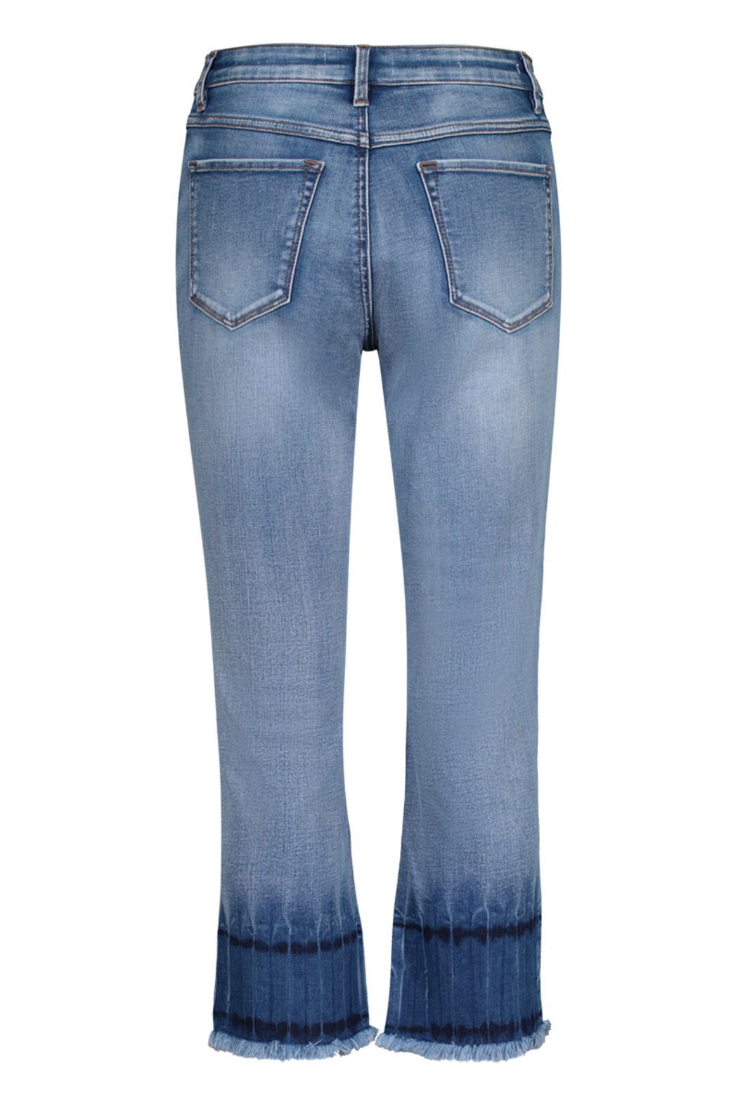 Tribal Jeans Blue Glow Ankle Jeans - Front Full Image