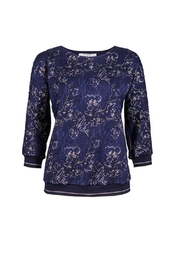 Dame Blanche Anvers Blue/gold Sweater - Side cropped