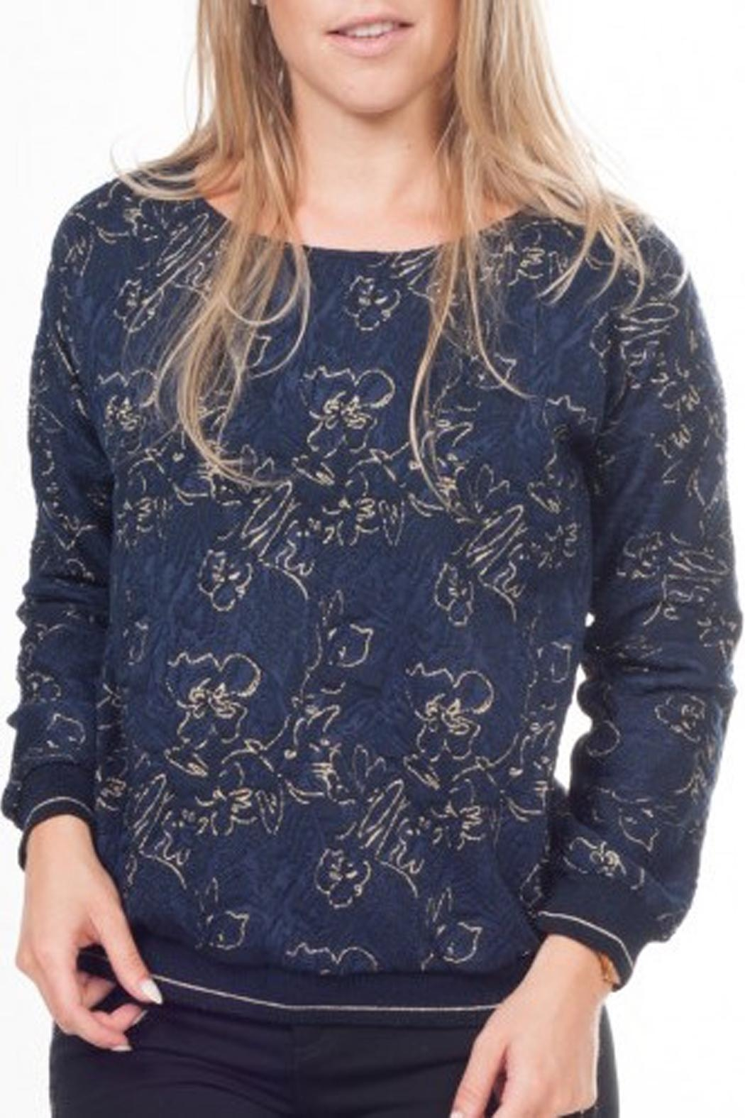 Dame Blanche Anvers Blue/gold Sweater - Main Image