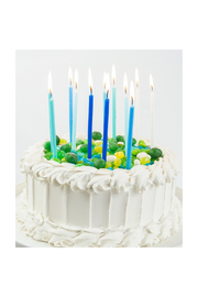Party Partners Blue Gradient Candles - Set Of 12 - Side cropped