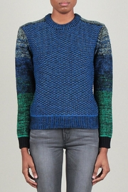 Current Air Blue-Green Round-Neck Sweater - Product Mini Image
