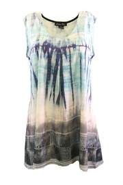 Michael Tyler Collections Blue/grey Sleeveless Tunic - Product Mini Image