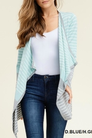 Staccato Blue-Grey Striped Cardigan - Product Mini Image
