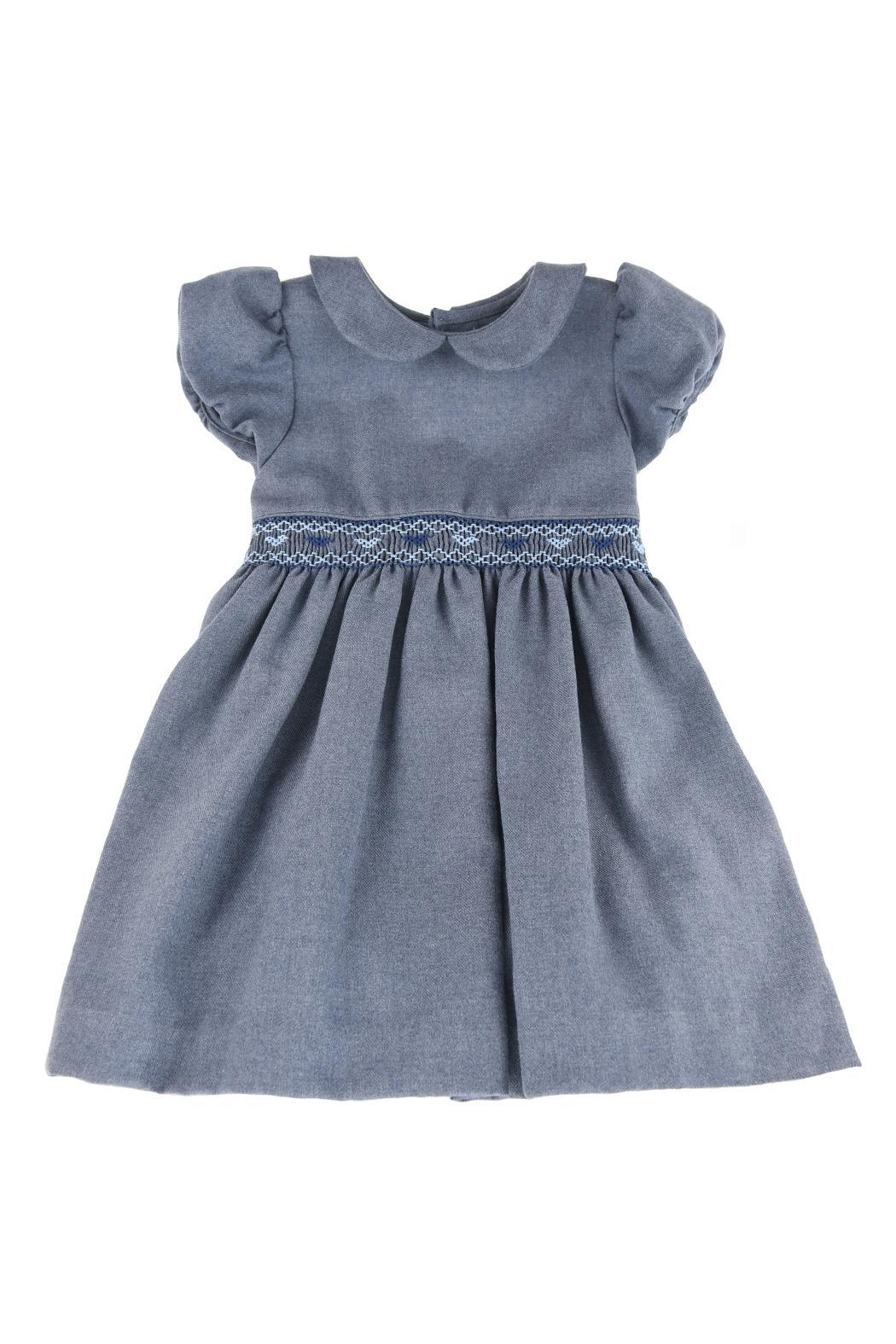 Malvi & Co. Blue Heart Dress. - Front Cropped Image