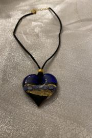 tesoro  Blue Heart Glass Pendant - Product Mini Image