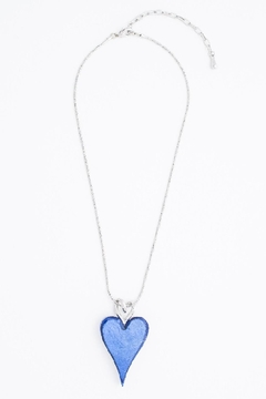 Pink Poodle Boutique Blue Heart Necklace - Product List Image