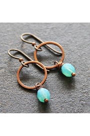 RELMoriginals Blue Hoop Earrings - Product Mini Image