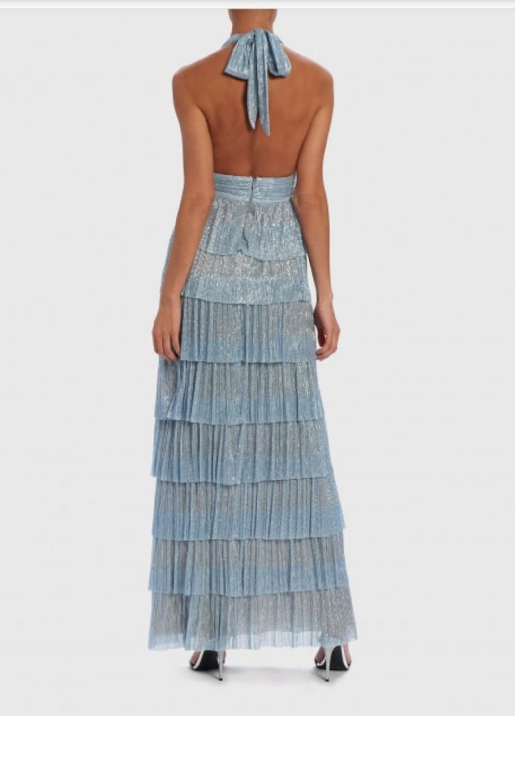 Forever Unique Blue Irridescent Gown - Side Cropped Image
