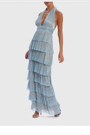 Forever Unique Blue Irridescent Gown - Front cropped