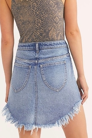 Free People Blue Jean Skirt - Front full body