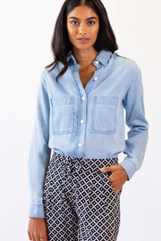 Pink Martini Blue Jean Top - Product Mini Image