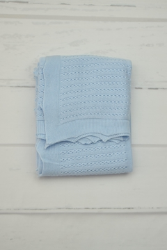 Shoptiques Product: Blue Knitted Blanket