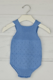 Granlei 1980 Blue Knitted Onesie - Front full body