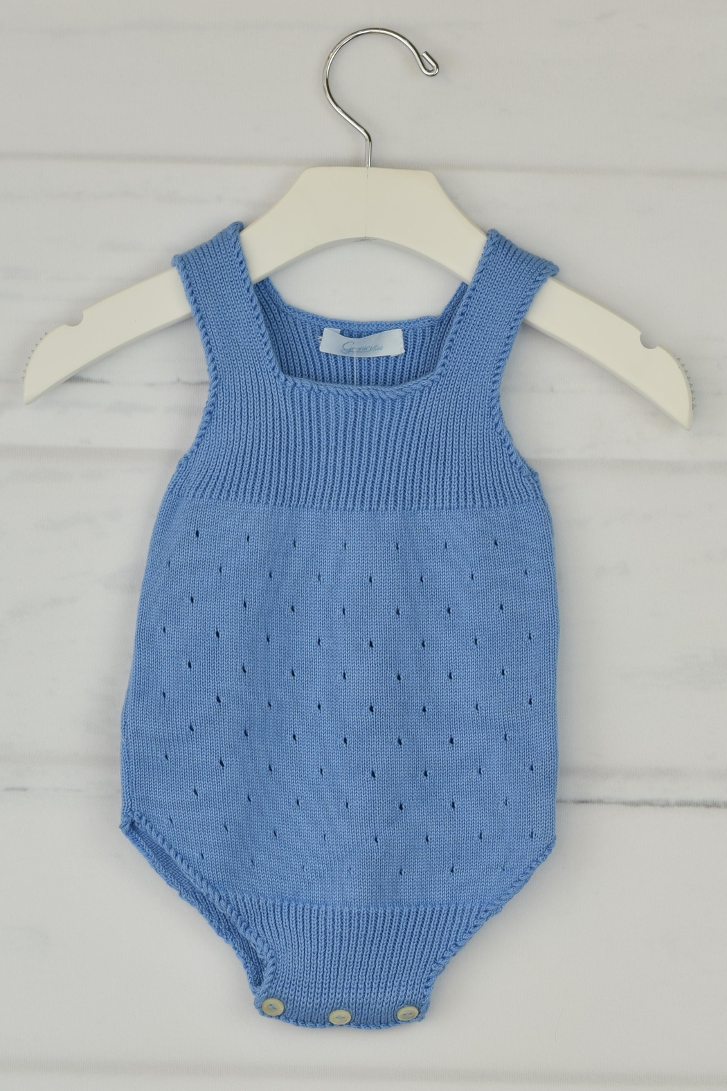 Granlei 1980 Blue Knitted Onesie - Main Image