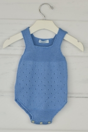 Granlei 1980 Blue Knitted Onesie - Front cropped