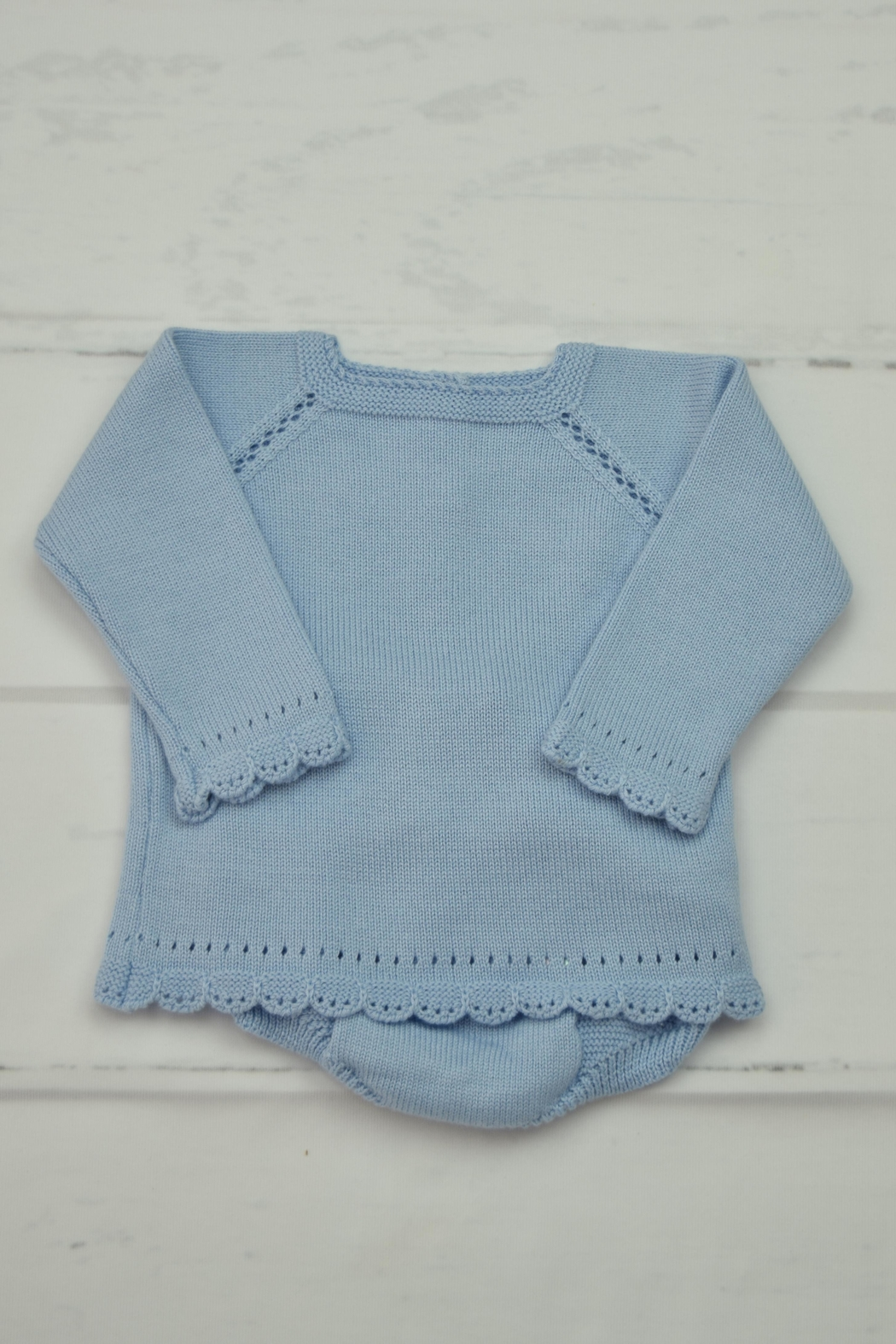 Granlei 1980 Blue Knitted Outfit - Main Image