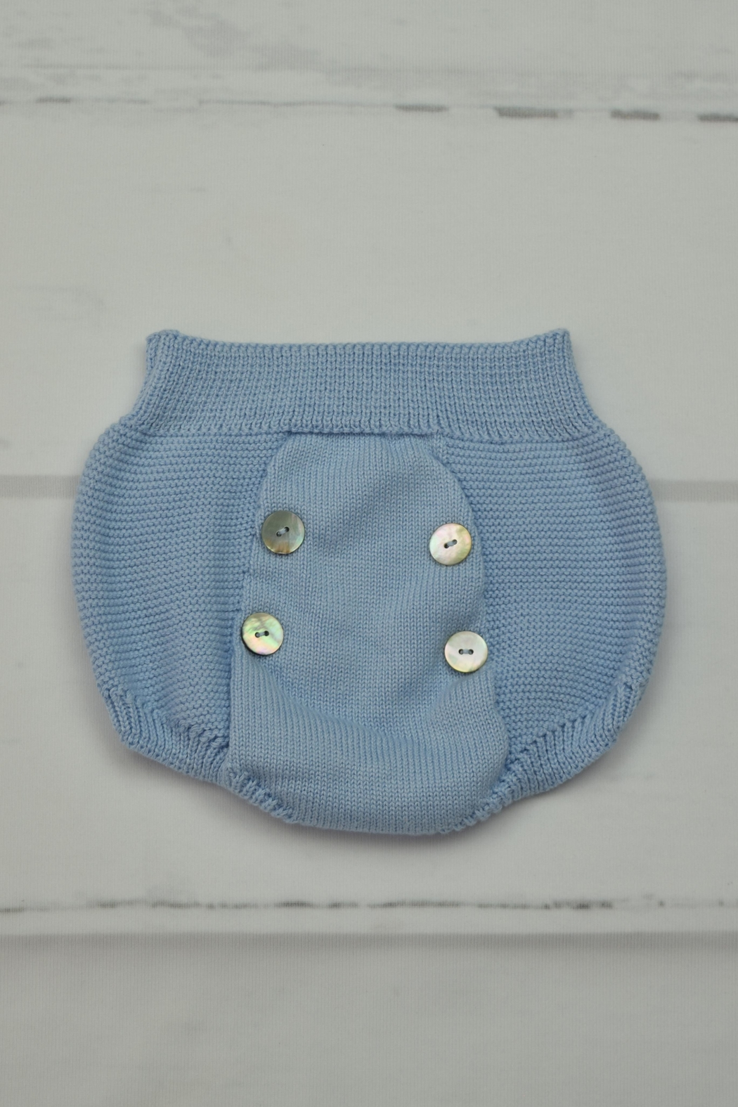 Granlei 1980 Blue Knitted Outfit - Side Cropped Image