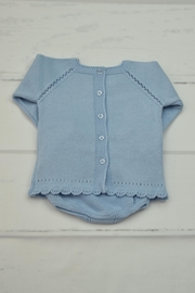Granlei 1980 Blue Knitted Outfit - Front full body